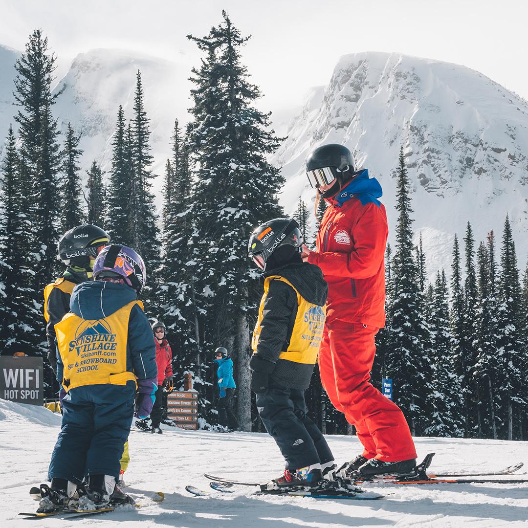 Snow School: Kids Lessons | Sunshine Village