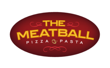 The meatball restaurant logo, pizza and pasta