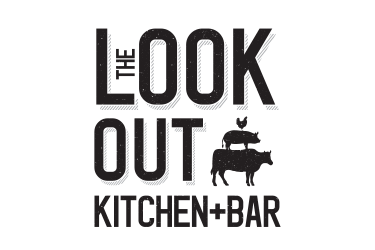 The lookout bar and kitchen logo